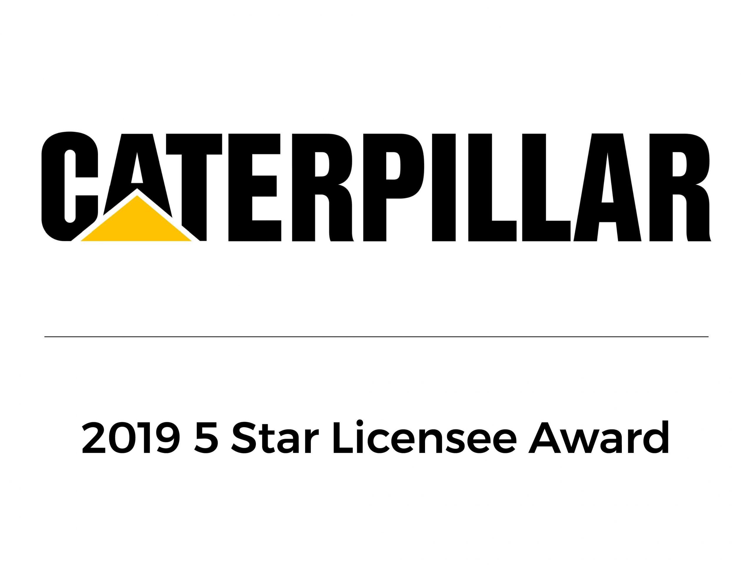 Caterpillar 2019 5 Star Licensee Award